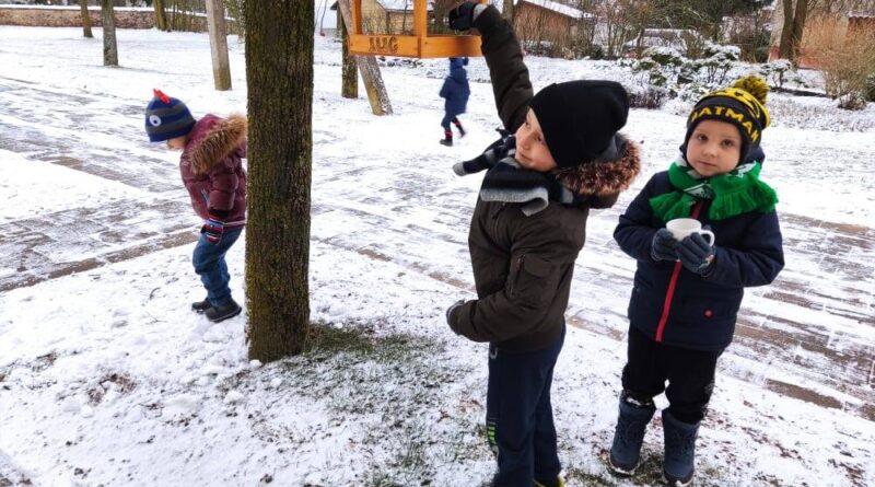 Smagu žiemą vaikams – sunku paukšteliams